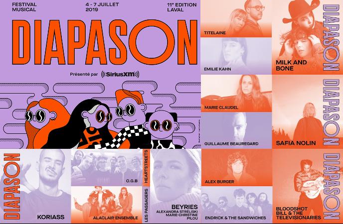 Musique émergente du 4 au 7 juillet 2019 à Laval (Québec) au Festival Diapason