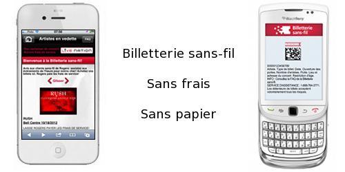 Une billetterie sans-fil sans papier et sans frais au Québec?