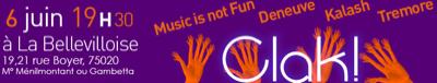 Clak! Festival concours musical destiné aux artistes émergents d'Ile de France