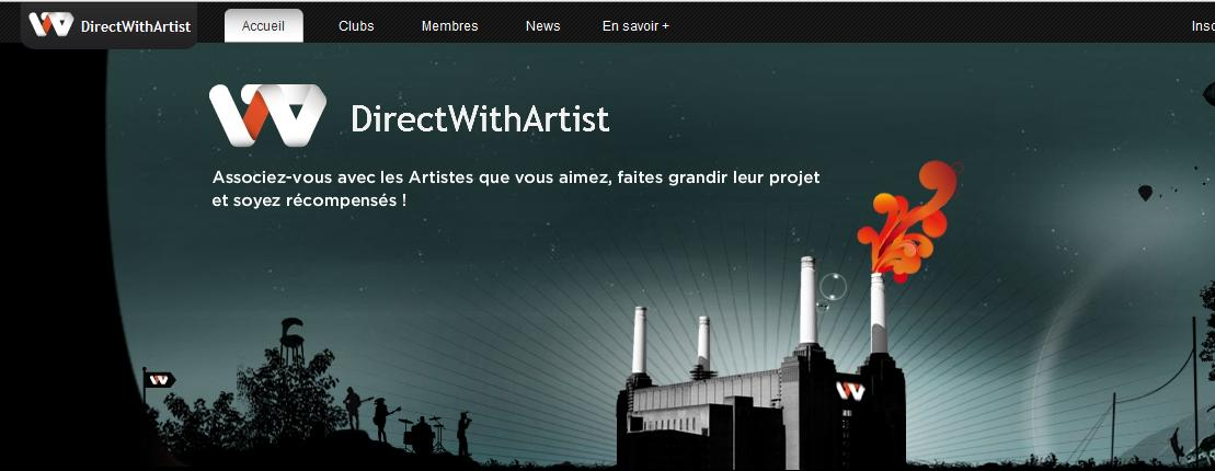 Nouveau label participatif DirectWithArtist? On y croit mais non!