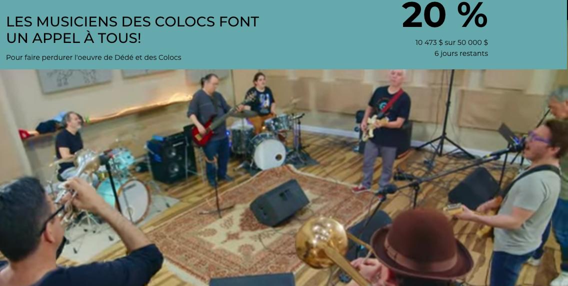 L'appel aux fans des musiciens des Colocs